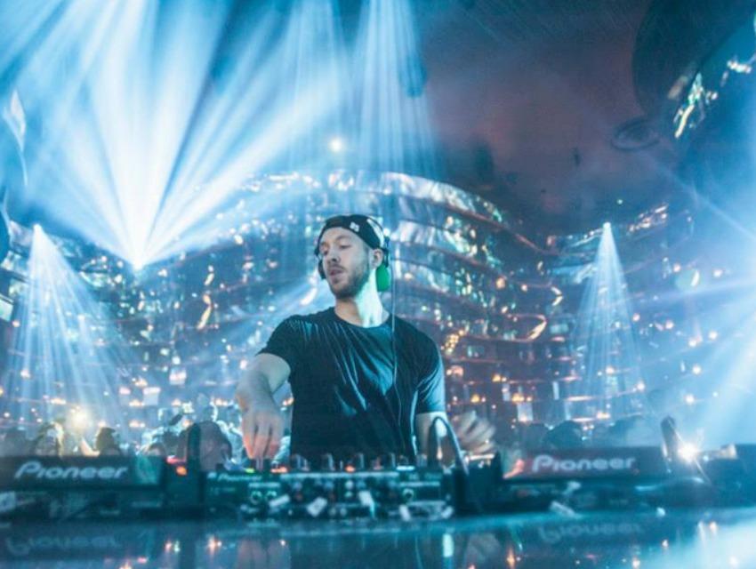 DJ Calvin Harris brought the beats to Omnia's grand opening weekend.