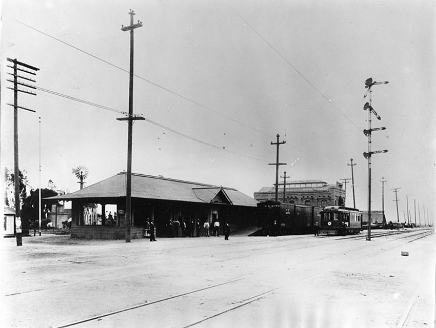 The Watts Pacific Electric station in 1906.
