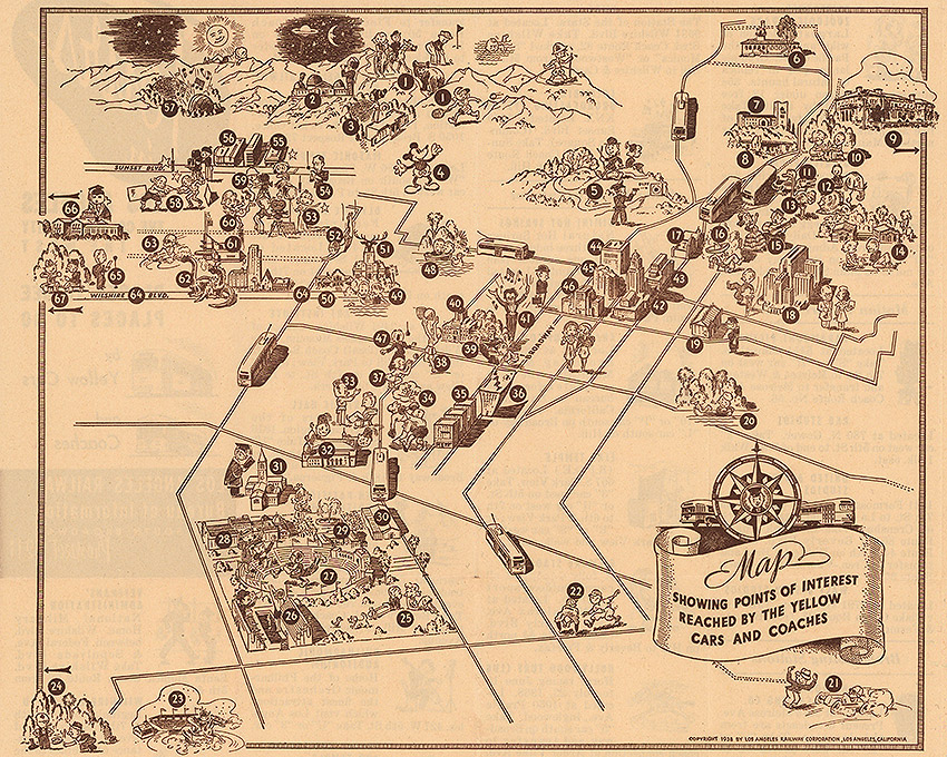 CityDig: This 1938 Map Captures the Charm of L.A.'s Under ... on