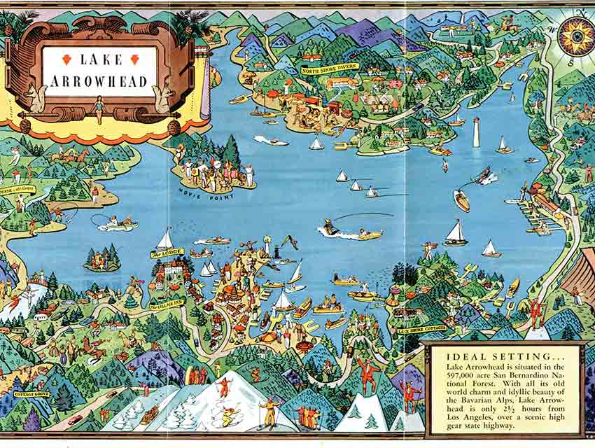Paradise Lake Map on