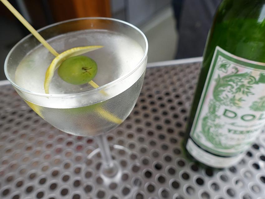 Redbird's Julia Child: French vermouth, gin, orange bitters, lemon essence