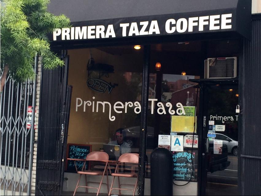 Primera Taza is right across the street from Mariachi Plaza