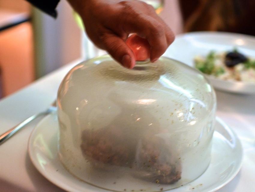 fig olive lamb chop glass