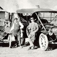 A.F. Gilmore (left) with his son, E.B.