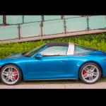 Side view of the all-new Porsche 911 Targa