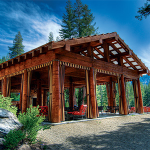 The lodge at Sequoia High Sierra camp