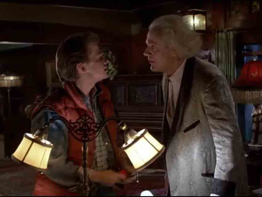 """A screen grab of """"Back to the Future"""""""