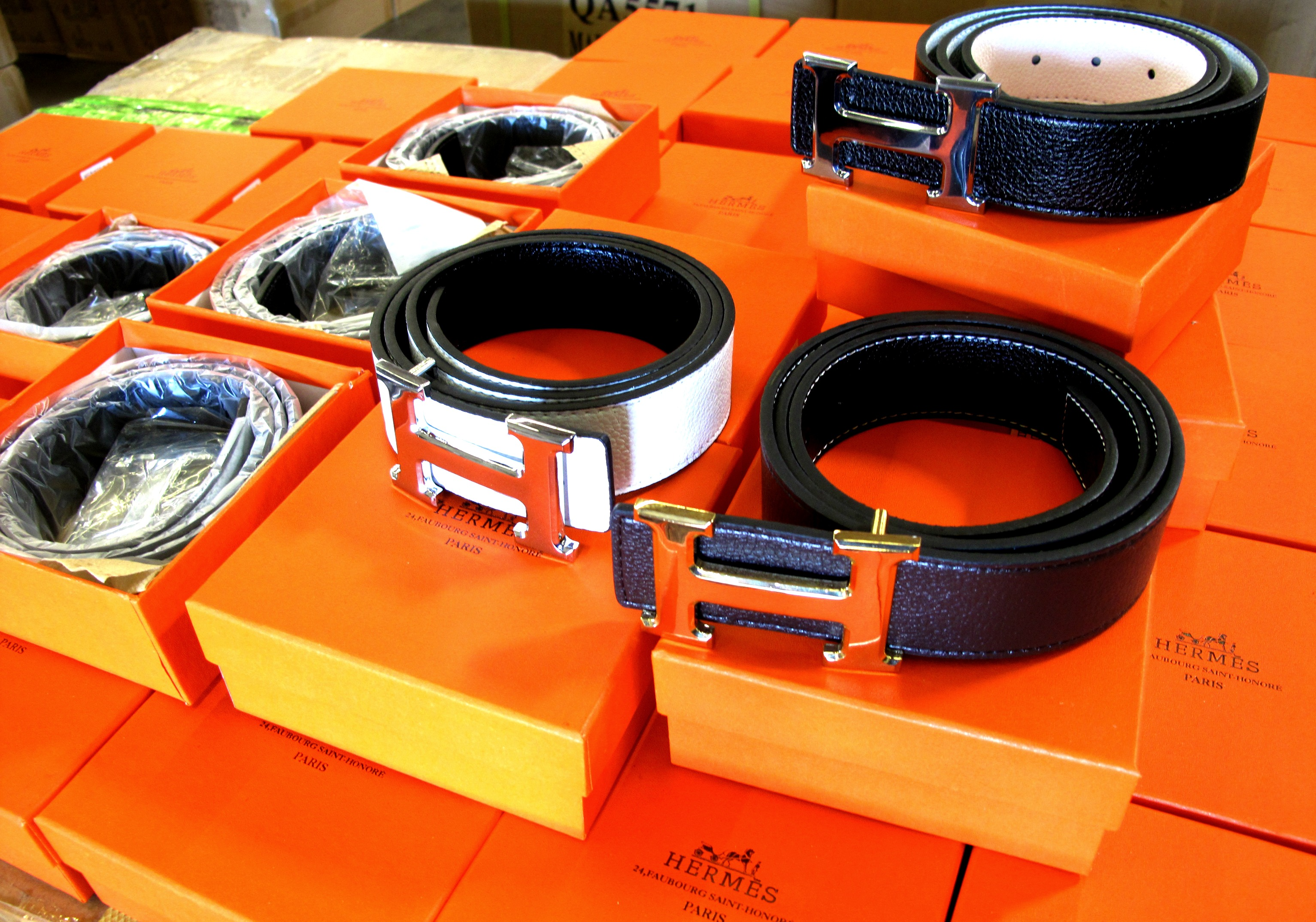 9e9980cbd2aa  3.2 Million in Fake Hermes Belts Seized at the L.A. Seaport