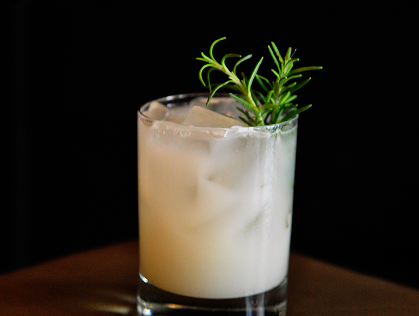 AOC's Silver Fox: tequila with jasmine horchata, lime, genepy and rosemary