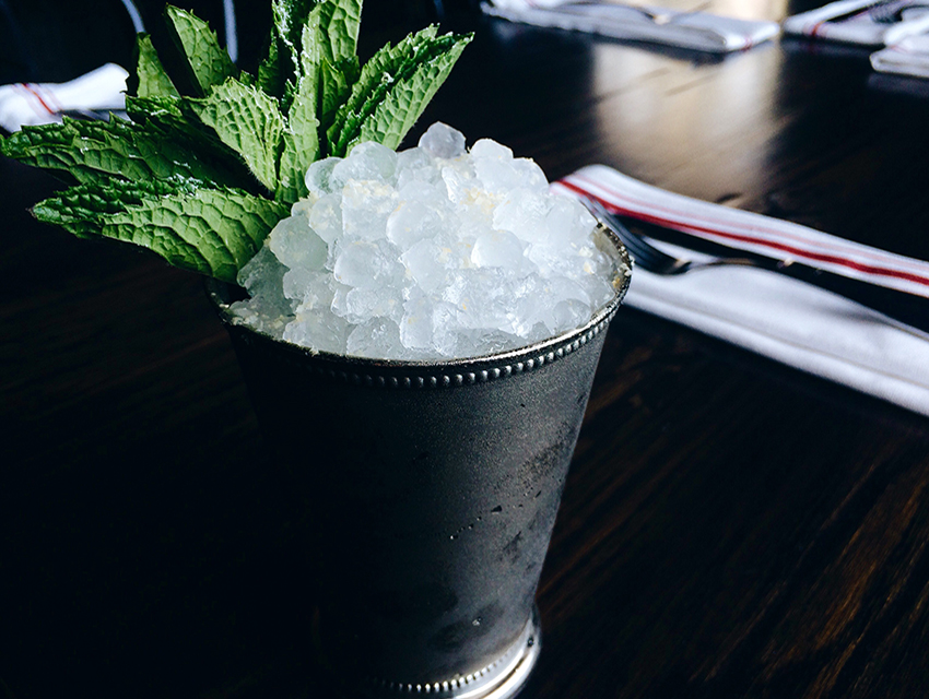 The Corner Door's King of America: Salted peanut-infused bourbon, mint, sugar