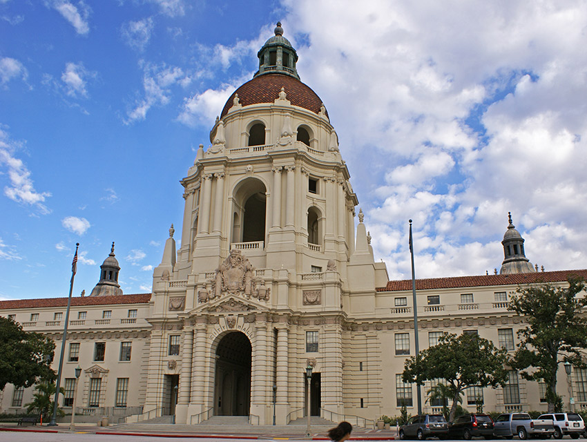 Pasadena City Hall, aka Pawnee City Hall.