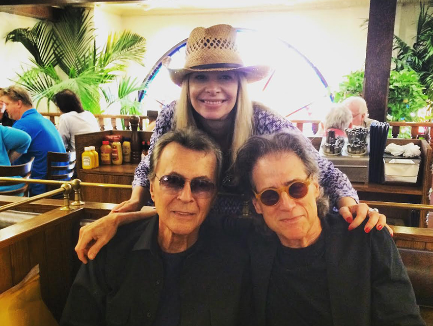 James Darren, Richard Lewis and Alison Martino at Greenblatt's Deli