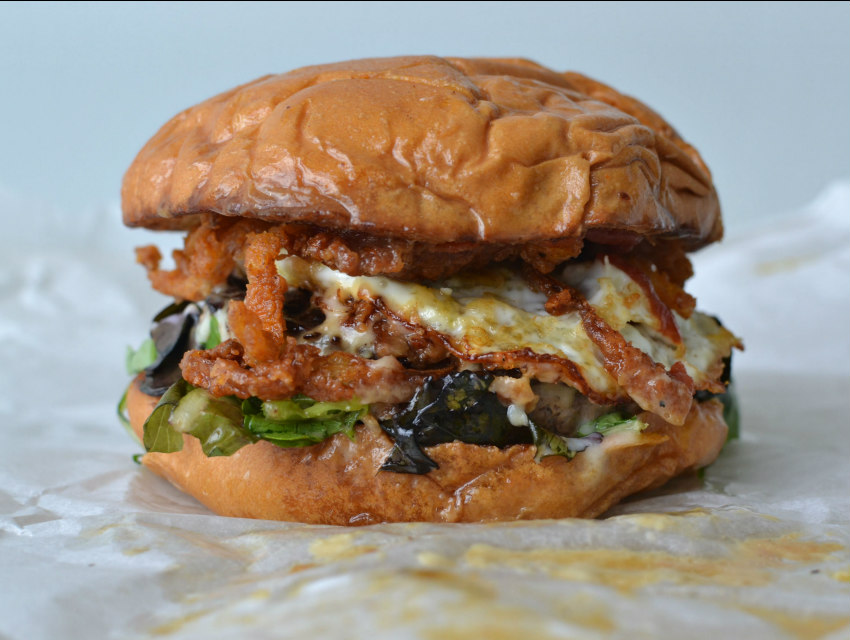The glorious mess that is True Burger's eponymous sandwich