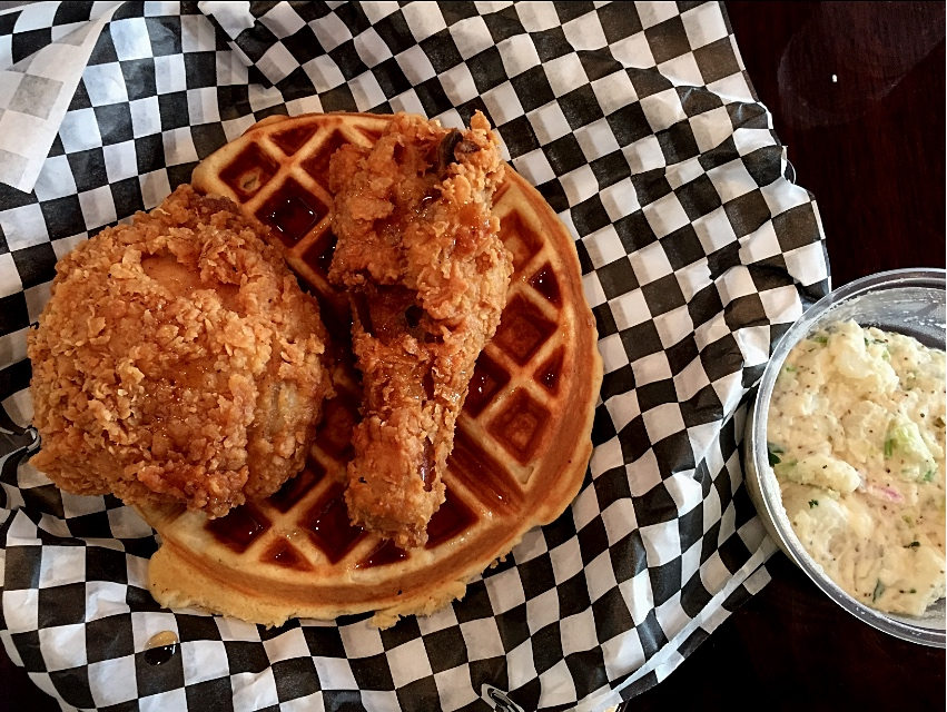 Chicken and Waffles from Mabel's in Downtown L.A.