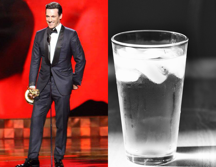 Jon Hamm and a Tall Drink of Water