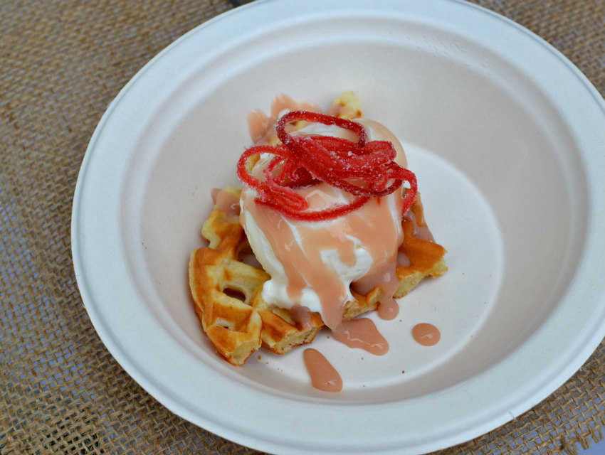 Rosé and waffles: Because pink wine is the new chicken