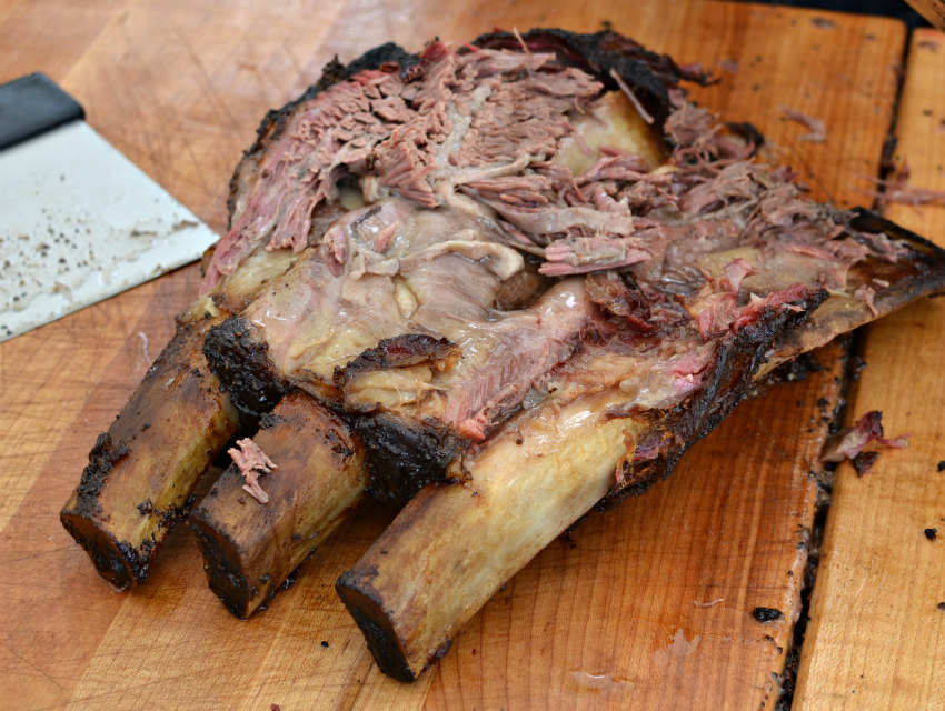 Adam Perry Lang's beef ribs had the longest line of any booth—and for good reason