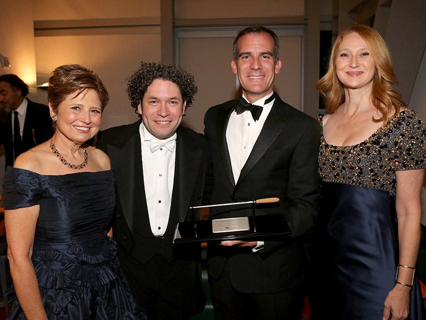 Deborah Borda, Gustavo Dudamel, Mayor Eric Garcetti, Amy Wakeland