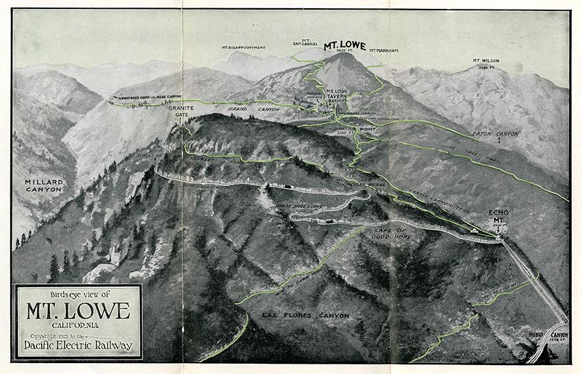 Birdseye View of Mt. Lowe, Pacific Electric Railway, 1913