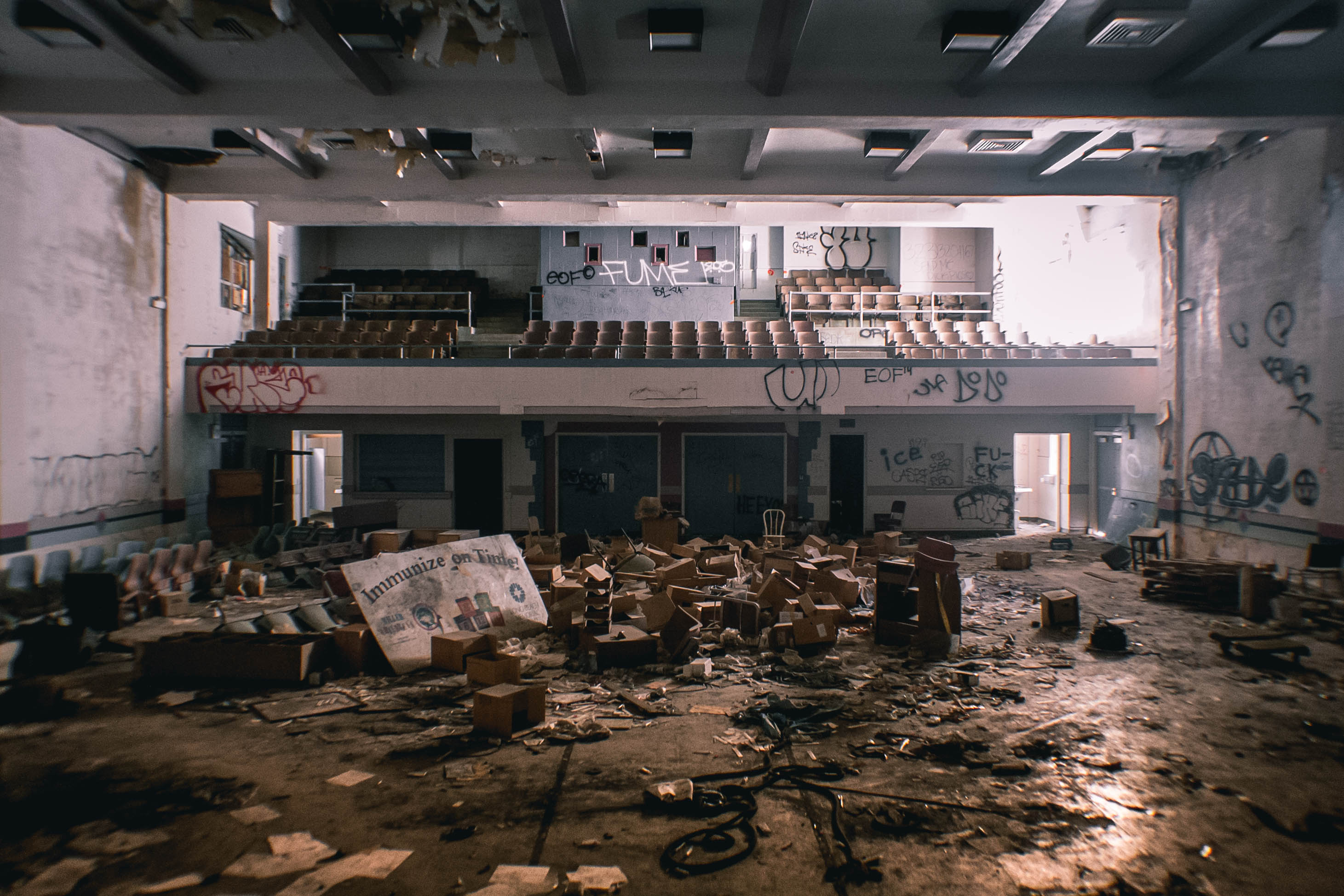 """""""This is inside the building's auditorium."""""""