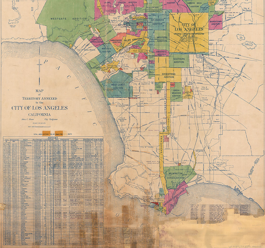Map of the Territory Annexed to the City of Los Angeles, California