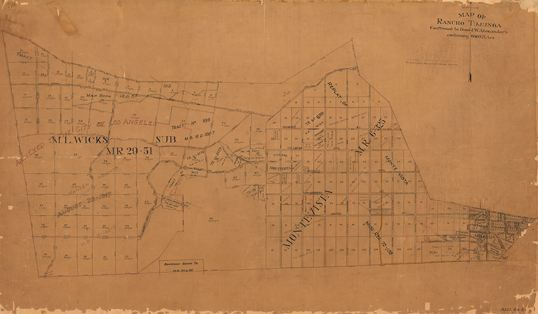 Map of Rancho Tujunga