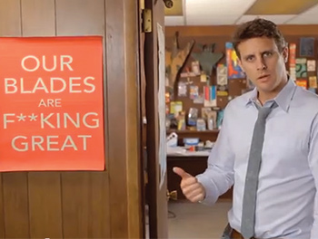 Scenes from Dollar Shave's inaugural YouTube spot