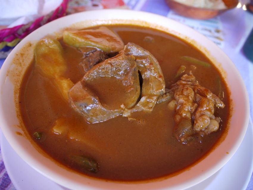 Mole amarillo, or yellow mole at Las 7 Regiones de Oaxaca