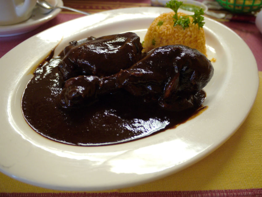 Mole coloradito at Gish Bac