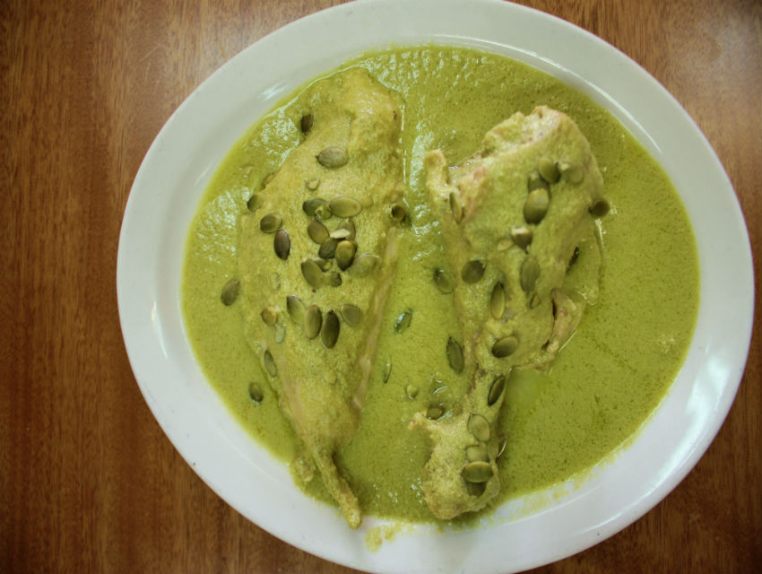 Pipian verde at Las Molenderas, a new L.A. mole institution in Boyle Heights