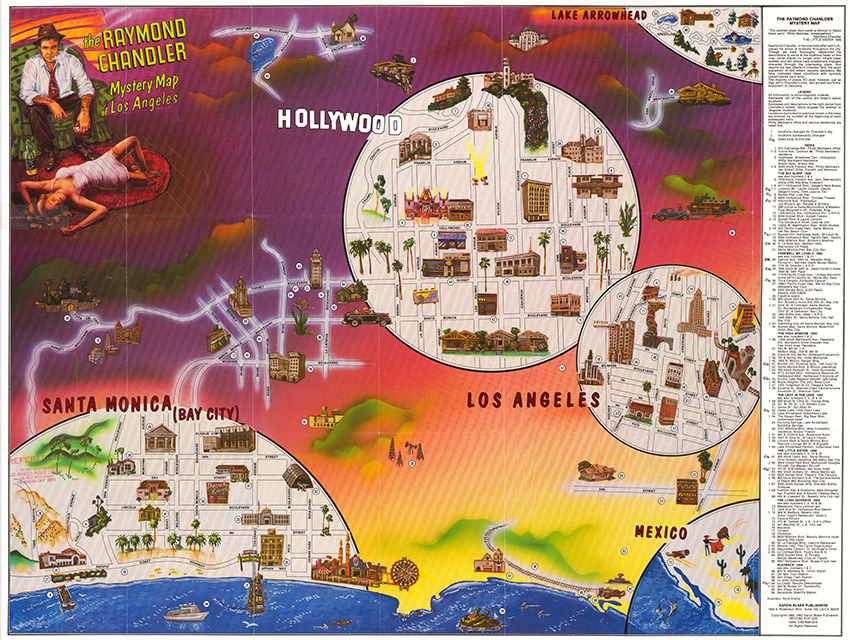 The Raymond Chandler Mystery Map of Los Angeles