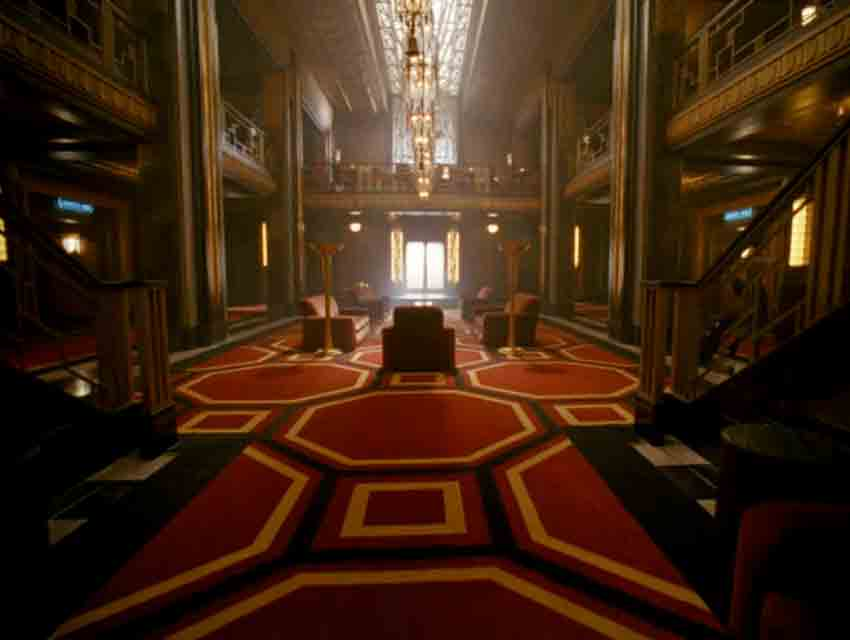 "Hotel Cortez's lobby in a screen grab from ""American Horror Story: Hotel"""