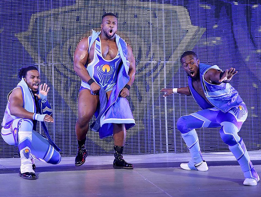 Xavier Woods, Big E Langston & Kofi Kingston bring a New Day to wrestling.