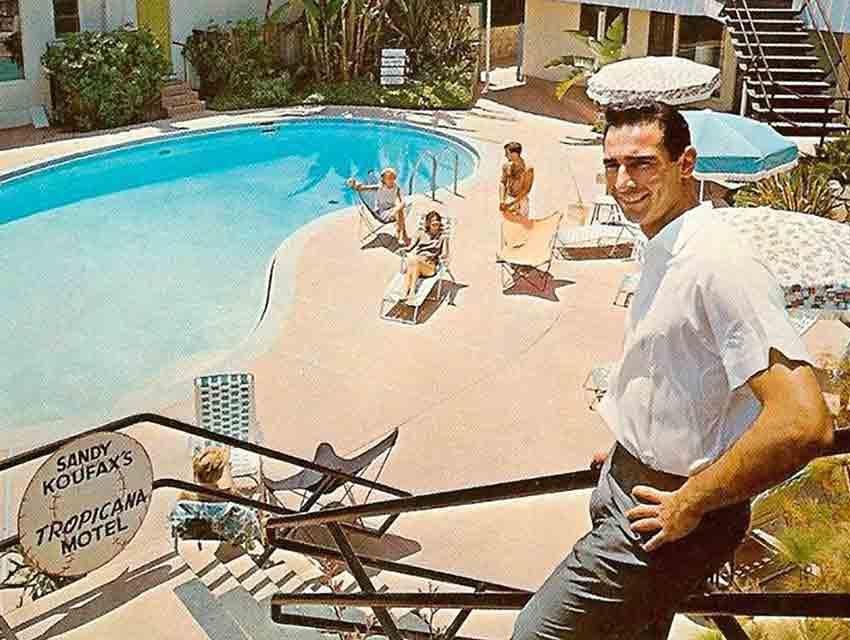 A postcard of Sandy Koufax dated 1962