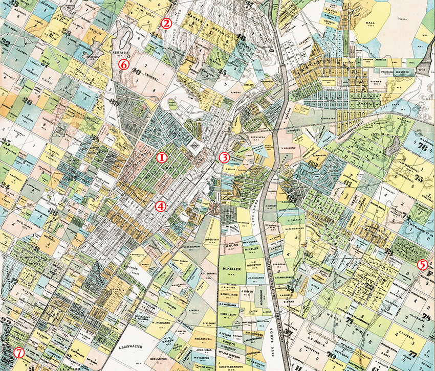 Map of the city of Los Angeles, Henry J. Stevenson, 1884