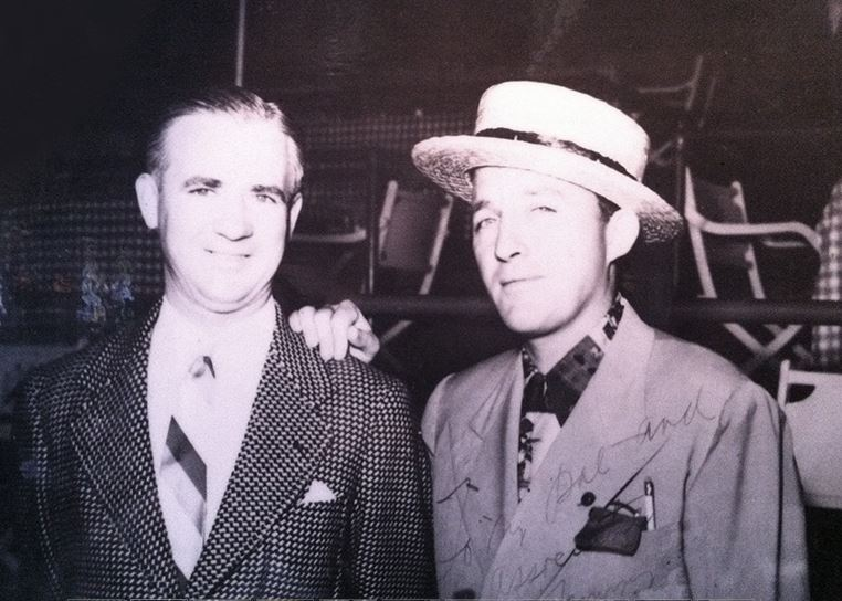 Tom Bergin (left), featured here with Bing Crosby, is said to haunt his eponymous bar.