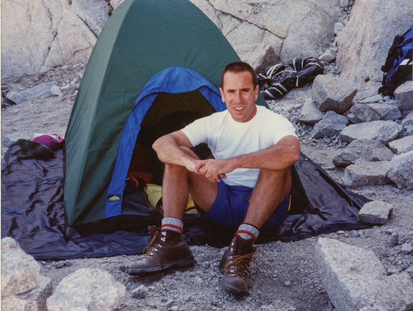 HIGHER CLIMBS: A skilled outdoorsman, Aujay frequently took trips to the Sierra to go camping