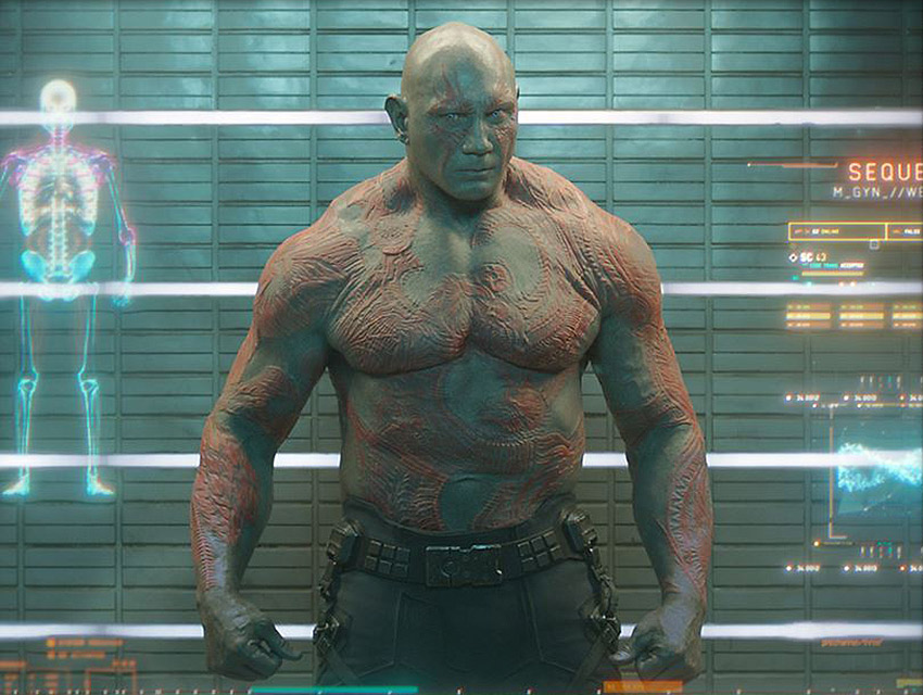 "Dave Bautista as Drax in ""Guardians of the Galaxy"""