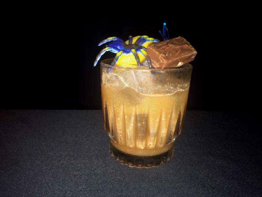Spare Room's Dr. Teeth with Milky Way Bourbon, Dark Cacao, Aztec chocolate bitters