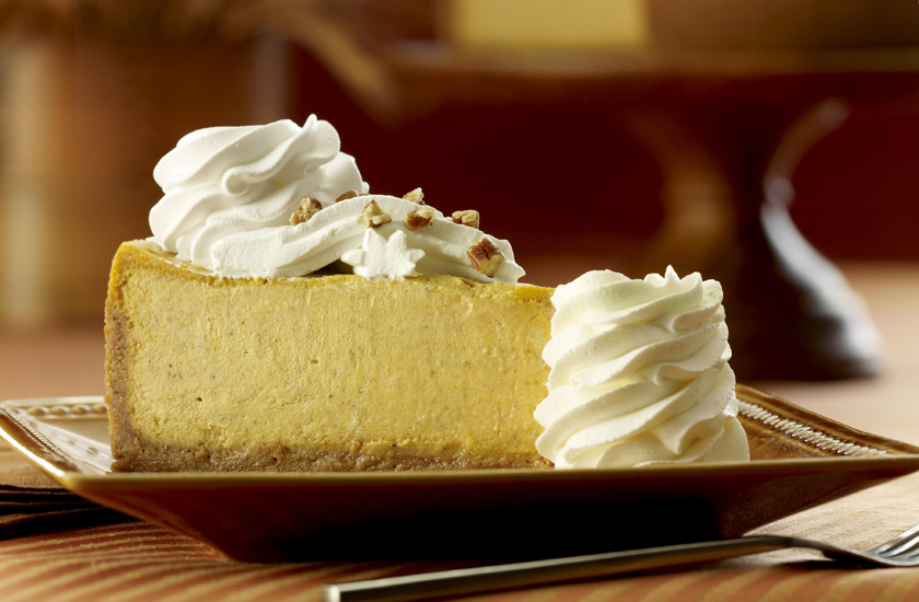 Pumpkin cheesecake at the one and only Cheesecake Factor
