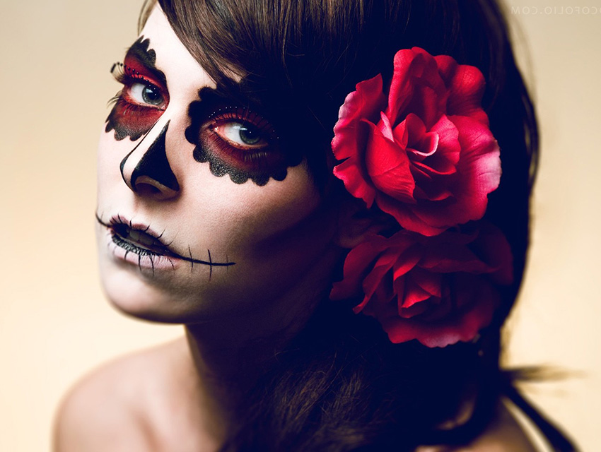 How To Master Dia De Los Muertos Inspired Makeup Los Angeles Magazine - Day-of-the-dead-makeup-tutorial-video