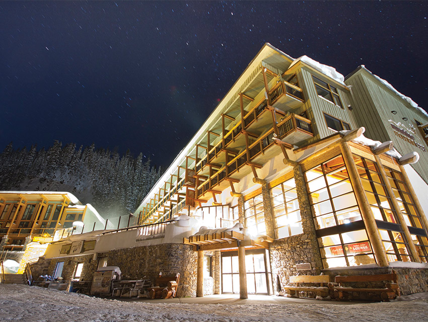The on-slope Sunshine Mountain Lodge