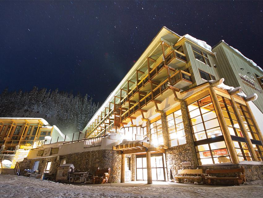 The on-slope Sunshine Mountain Lodge