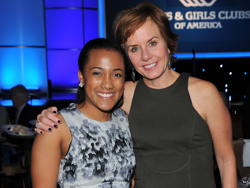 Whitney Stewart and Carrie Schwab-Pomerantz (Charles Schwab Foundation)