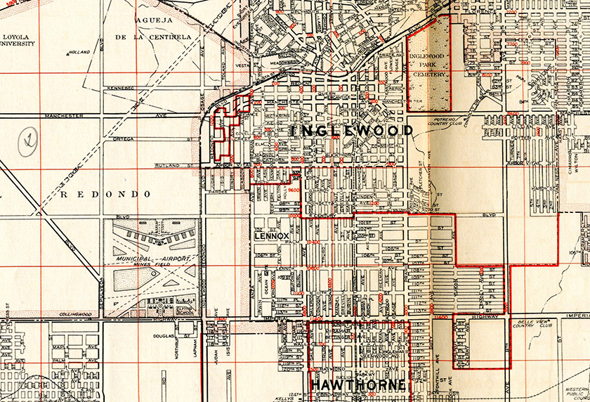 Industrial Guide and Street Index of Los Angeles and its Environs, Metropolitan Surveys, Sheet 4, 1936