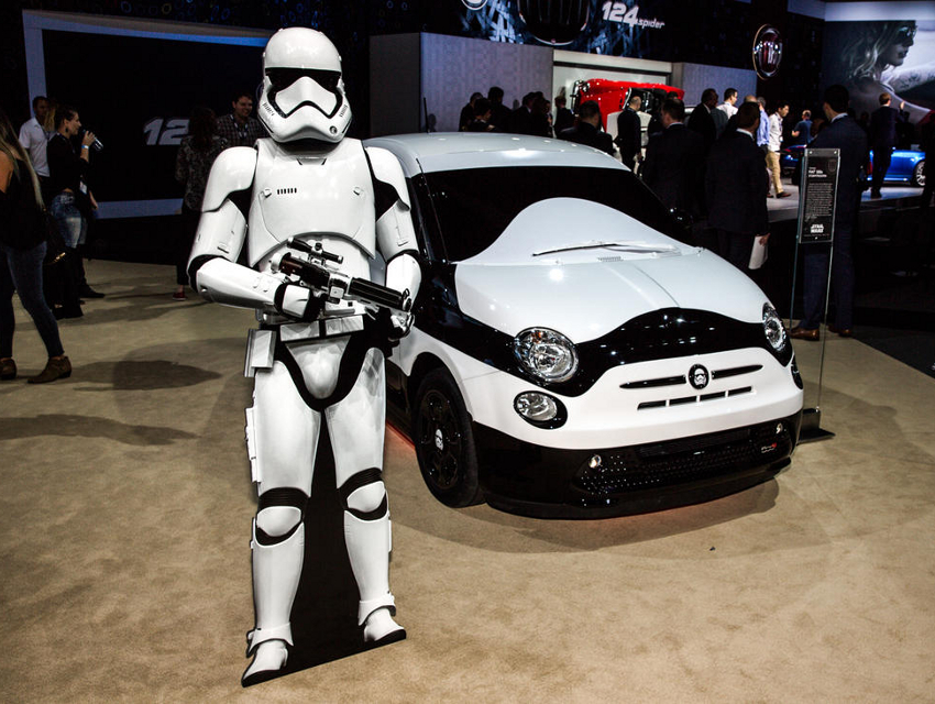 The Star Wars Fiat Awakens At The LA Auto Show Los Angeles Magazine - Car show in los angeles this weekend
