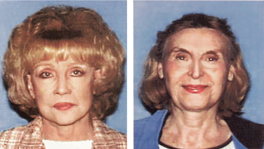 Helen Golay (left) and Olga Rutterschmidt are believed to have recruited their homeless victims at First Presbyterian Church in Hollywood.