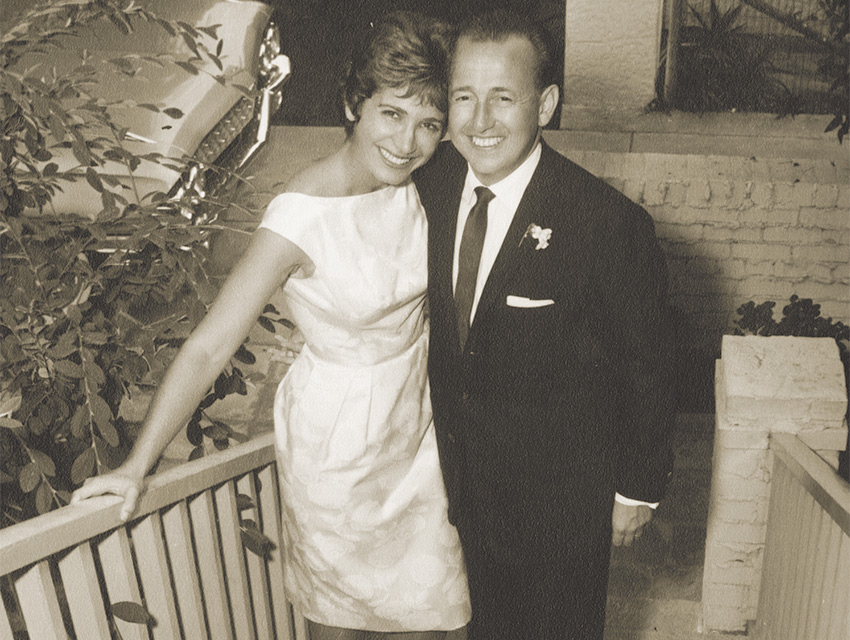 The author's parents, Leila and George Brownfield, on their wedding day, September 17, 1961.