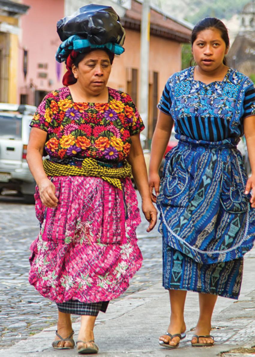 Traditional Mayan garb.