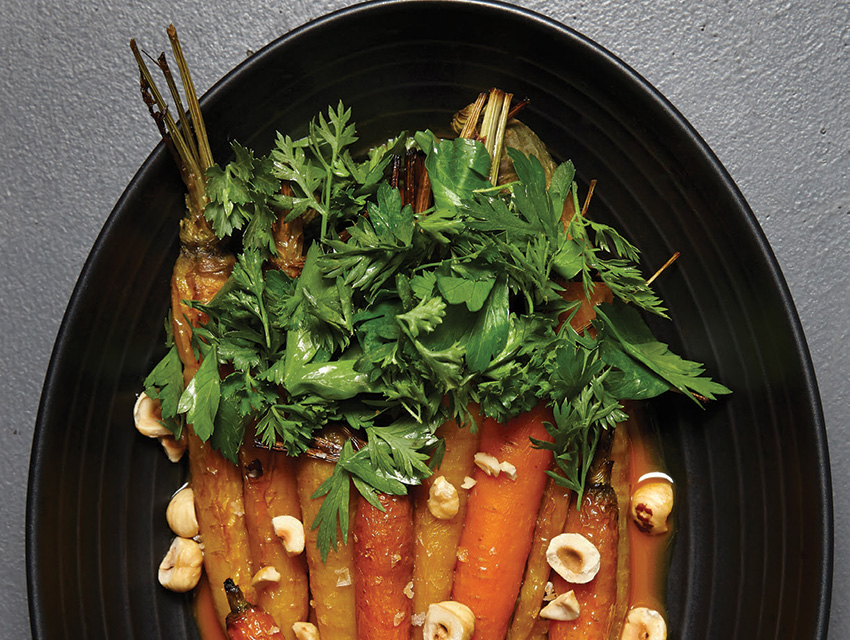 Roasted carrots with chamomile jus at the Bellwether